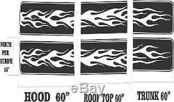 Vinyl Graphics Decal Full Body Stripe Kit Hood Roof Trunk 6stp-21 15 X 60