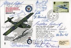 WW2 Battleship Bismarck FDC signed by NINETEEN survivors