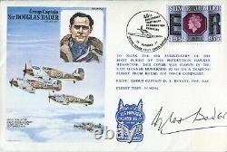 WW2 RAF Battle of Britain ace DOUGLAS BADER signed his own FDC UACC DEALER