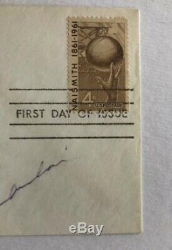 Wilt Chamberlain Signed Autographed 1961 Naismith HOF FDC Cachet JSA