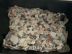 World stamp glory box 10kg lots albums off paper on paper leaves FDC LOT6