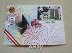 YELLOW First Day Cover Crypto Stamp 1 RARE FDC Ethereum Ersttagsbrief gelb CS1
