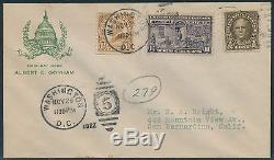 #e15 On First Day Cover By Albert Gorham Nov 29,1927 Bs6222